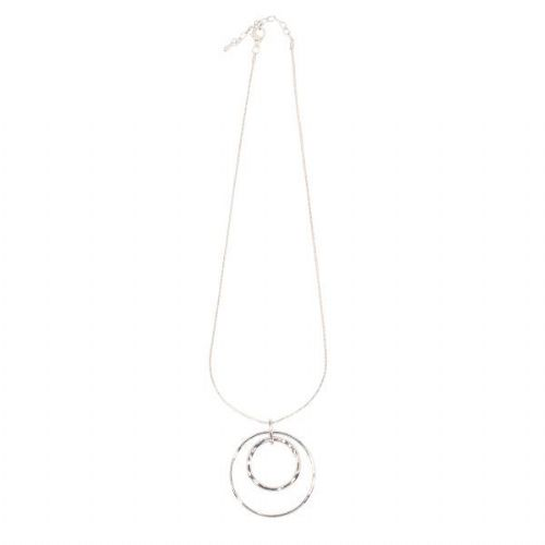 Simple Chain with Double Circle Pendant